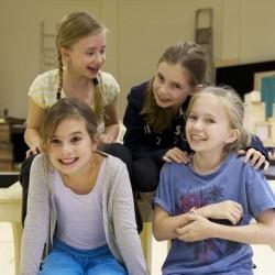 Cleo Demetriou, Kerry Ingram, Eleanor Worthington Cox and Sophia Kiely (Matilda)