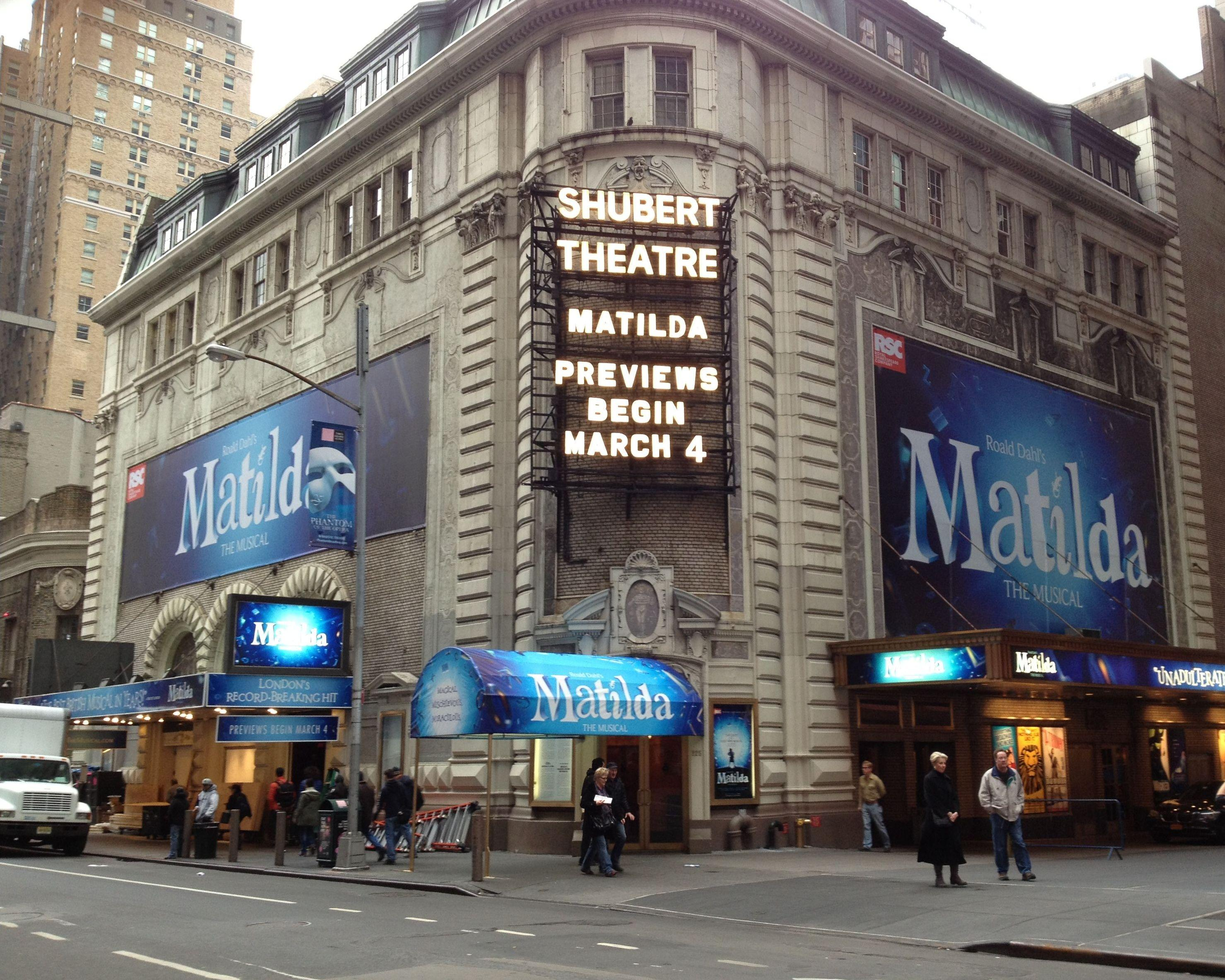 Broadway Previews Begin Tonight Matilda The Musical London