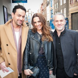 Ben Forster, Melanie Chisholm and Chris Moyles