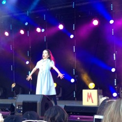 Lollie performing 'Naughty'
