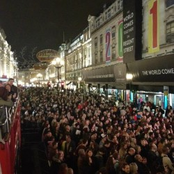 The crowds on Regent Street