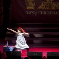 Lucy-Mae Beacock as Matilda at the Regent Street Christmas Lights