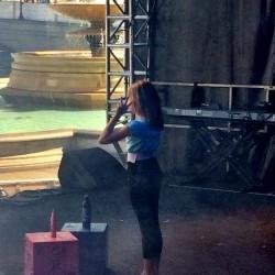 Lottie rehearsing