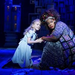 Matilda Shapland as Matilda and Lisa Davina Phillip as Mrs Phelps