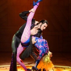 Jason Winter as Rudolpho and Kay Murphy as Mrs Wormwood