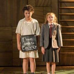 Arthur Yamaguchi as Bruce and Violet Tucker as Matilda