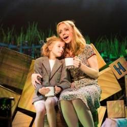 Lottie Sicila as Matilda and Haley Flaherty as Miss Honey