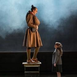 Craige Els as Miss Trunchbull and Tasha Chapple as Matilda