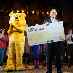 Terry and Pudsey with company