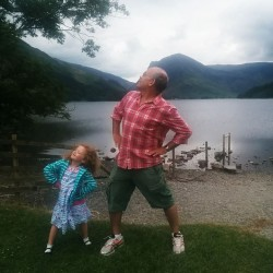 Ellen and Daddy in Lake District