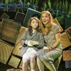 Evie Hone as Matilda and Miria Parvin as Miss Honey - Matilda The Musical