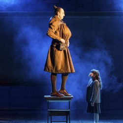Craige Els as Miss Trunchbull and Anna-Louise Knight as Matilda