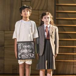 Keyaan Hameed as Bruce and Lara McDonnell as Matilda - Matilda The Musical