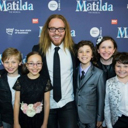 Tim Minchin with the cast