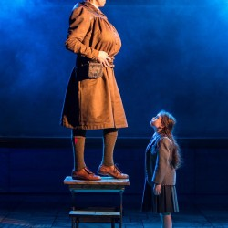 Craige Els as Miss Trunchbull and Evie Hone as Matilda