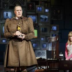 Dan Chameroy as Miss Trunchbull and Paula Brancati as Miss Honey. Photo Joan Marcus