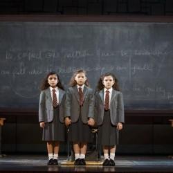 Jenna Weir, Jaime MacLean and Hannah Levinson as Matilda. Photo Joan Marcus