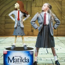 The Royal Shakespeare Company's Matilda The Musical hosts LEGO¨ Roald Dahl Hero for Roald Dahl Day on stage at the Cambridge Theatre, London