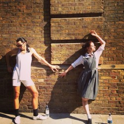 A little interval modelling from @marcantolin and @pinderella83 Photo credit: @netsymac #matildathemusical #matilda