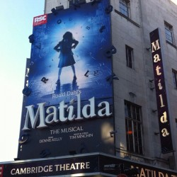 Sometimes you have to be a little bit naughty #matildathemusical #london