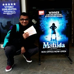 Managed to snag Matilda The Musical tickets for £5!!!!!!! SO HAPPY I COULD CRY & yes I have Hair For Hope-d myself