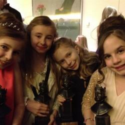 Best Actress in a Musical (L-R Eleanor Worthington Cox, Kerry Ingram, Sophia Kiely, Cleo Demetriou)