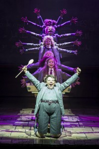 Harrison Vaughan as Bruce, Lizzie Wells as Matilda and the company